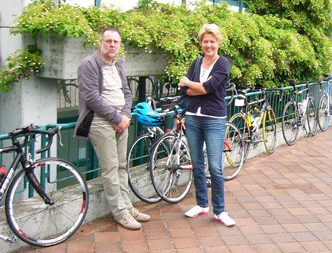 Die Begleitcrew: Beatrix Bauer und Hans Cander