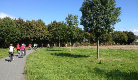 Auf dem Regionalparkweg bei Raunheim